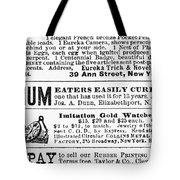 Opium Habit Cure, 1876 Tote Bag