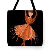 1 Orange Ballerina Tote Bag