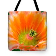 Orange Cactus Flower Tote Bag