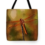 Orange Dragonfly Tote Bag