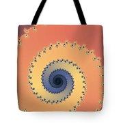 Orange Fractal Tote Bag