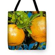 Orange Fruit Growing On Tree Tote Bag