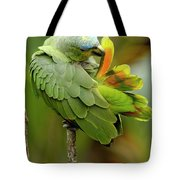 Orange-winged Parrot Amazona Amazonica Tote Bag
