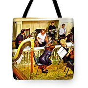 Orchestra Tuning Up In The Pit In Hermitage Theatre In Saint Petersburg-russia  Tote Bag