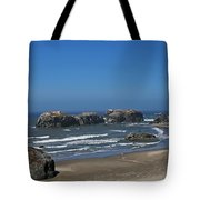 Oregon Beach And Rocks Tote Bag