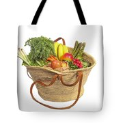 Organic Fruit And Vegetables In Shopping Bag Tote Bag