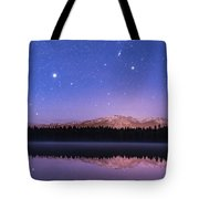 Orion Over Lake Annette Tote Bag