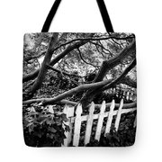 Overflowing A Picket Fence Tote Bag