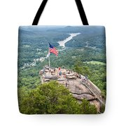 Overlooking Chimney Rock And Lake Lure Tote Bag
