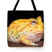 Pac Man Frog Ceratophrys Tote Bag