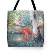 Paddling In The Creek Tote Bag