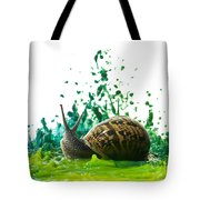 Paint Sculpture And Snail  Tote Bag