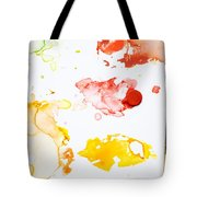 Paint Splatters And Paint Brush Tote Bag