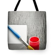 Paintbrush On Canvas Tote Bag