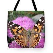 Painted Lady Butterfly Up Close Tote Bag