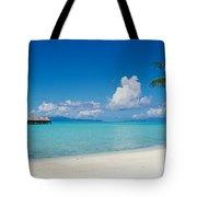 Palm Tree On The Beach, Moana Beach Tote Bag