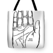 Palmistry Chart, 1885 Tote Bag