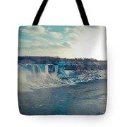 Panorama - Niagara Falls In Winter Tote Bag
