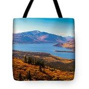 Panorama Of Fish Lake Yukon Territory Canada Tote Bag