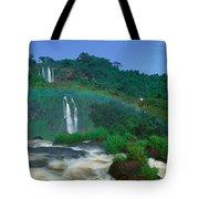Panoramic View Of Iguazu Waterfalls Tote Bag
