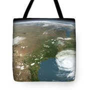 Panoramic View Of Planet Earth Tote Bag