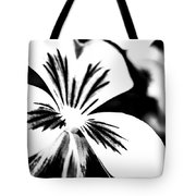 Pansy Flower Black And White 01 Tote Bag