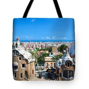 Park Guell In Barcelona Tote Bag