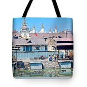 Pasupatinath Temple Of Cremation Complex In Kathmandu-nepal- Tote Bag