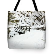 Pathway Through The Snow Tote Bag