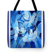 Peace On Earth Greetings With Doves  Tote Bag