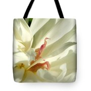 Peaceful Sentinel Of The White Peony Tote Bag