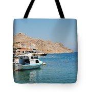 Pedi Harbour Symi Tote Bag