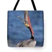 Pelican Head Throw Tote Bag