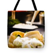 Pelmeni Dumplings With Fennel And Smetana Sour Cream Tote Bag
