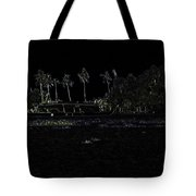 Pencil - A Houseboat On Its Quiet Sojourn Through The Backwaters Tote Bag