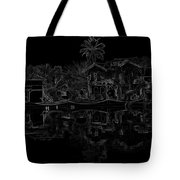 Pencil - View Of The Cottages And Lagoon Water Tote Bag