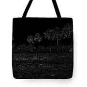 Pencil - Water Rippling In The Coastal Lagoon Tote Bag