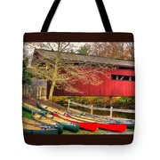 Pennsylvania Country Roads - Bowmansdale - Stoner Covered Bridge Over Yellow Breeches Creek - Autumn Tote Bag