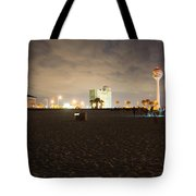 Pensacola Beach At Night Tote Bag