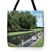 People At The Wall Tote Bag