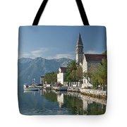 Perast Village On Kotor Bay Montenegro  Tote Bag