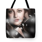 Performing Arts Woman. Romantic Stage Performance Tote Bag