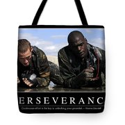 Perseverance Inspirational Quote Tote Bag