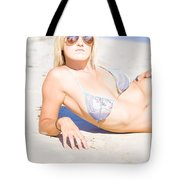 Person On Summer Holidays Tote Bag