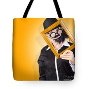 Person Setting Their Social Media Profile Picture Tote Bag