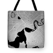 Perth Street Map - Perth Australia Road Map Art On Colored Backg Tote Bag