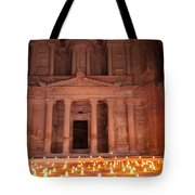Petra By Night Tote Bag