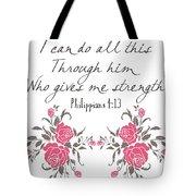 Philippians 4 13 Tote Bag