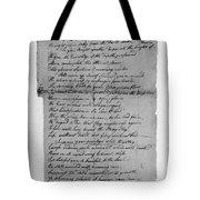 Phillis Wheatley (1753?-1784) Tote Bag