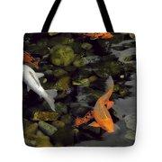 Swimming Koi Tote Bag